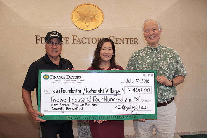 2018 Charity Breakfast Check Presentation